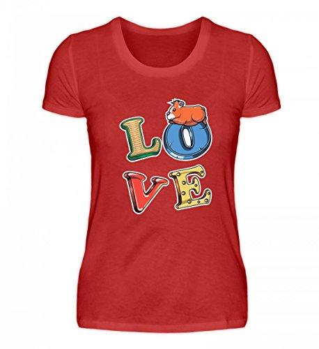Hochwertiges Damenshirt - Meerschweinchen Guinea Pig Nagetier Nager Fun Shirt Spruch Lustige Geschenk Idee Haustier