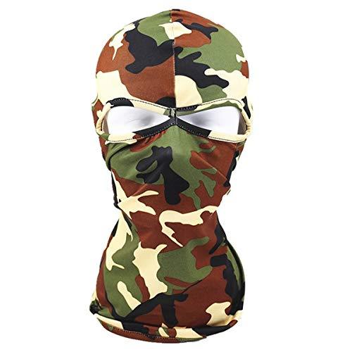 Taihang Unisex-Tarnung-Vollmaske-Outdoor-Schals Radfahren Headgear Hat (Color : Color Navy-Plug US plug) (Radfahren Us-navy)