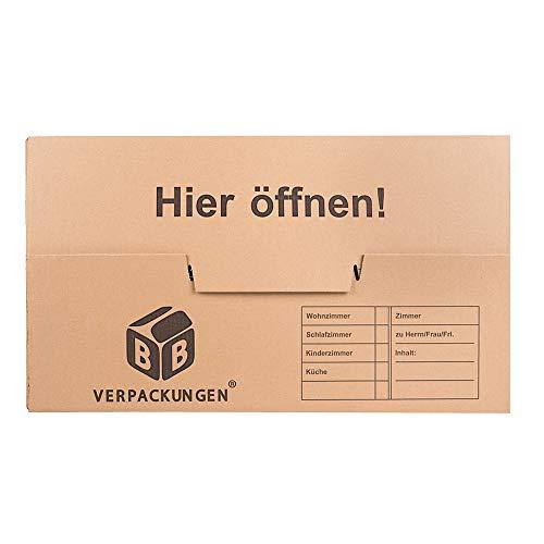 Umzugskartons 20 Stück Profi STABIL 2-wellig von BB-Verpackungen - 3