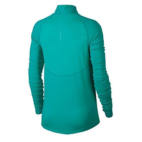 online store d3d0c 6bc06 Nike W Nk Top Core Hz Mid, Camiseta de manga larga mujer, Verde (