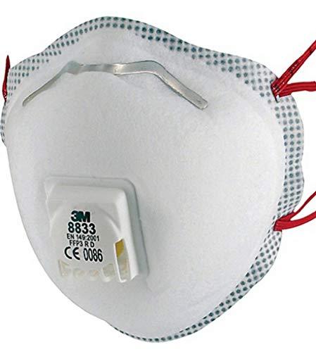 3MTM Respiratore monouso 8833SP, FFP3 R D, con valvola