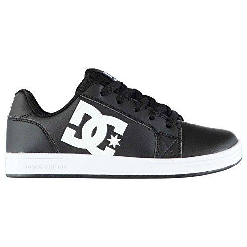 DC Kinder Serial Graffik Leder Skate Schuhe Turnschuhe Sneaker Skateboardschuhe Schwarz/Weiss