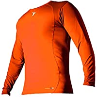 Precision Camiseta interior de manga larga y cuello redondo, naranja