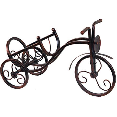 Jiahe portabottiglie vino - portabottiglie vino o porta vino a parete dispenser wine bar biciclette in metallo ottico (3 colori),a
