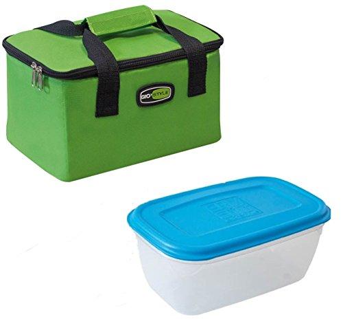 GioStyle Lunchbox Tasche tragbar Thermo Behälter Büro Arbeit Meer Gio grün Lunch Bag, 25x15