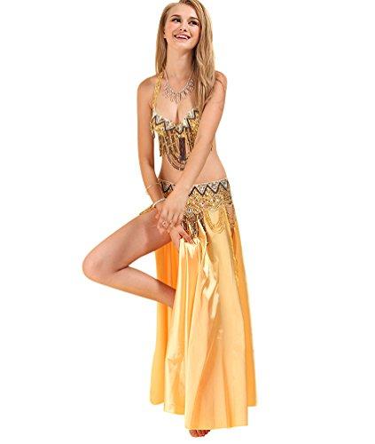 SunWanyi Damen Bauchtanz Rock Anzug Performance Tribal Oriental Arabian Belly Dance(Referenz Beschreibung) (Oriental Belly Dance)