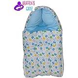 HEAVEN'S Care Blue Bear ZIPPER Baby Sleeping Bag Cum Baby Carry Bag 3 In 1 Baby Bed Cum Bedding Set/ Baby Carrier/ Baby Comfo Sleeping Cum Carry Bag Baby Sleeping Bag Cum Baby Carry Bag