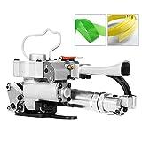 HUKOER Máquina portátil de embalaje de paquetes Herramienta neumática de flejado para PP y PET, 1/2 pulgadas a 3/4 pulgadas (13~19mm)