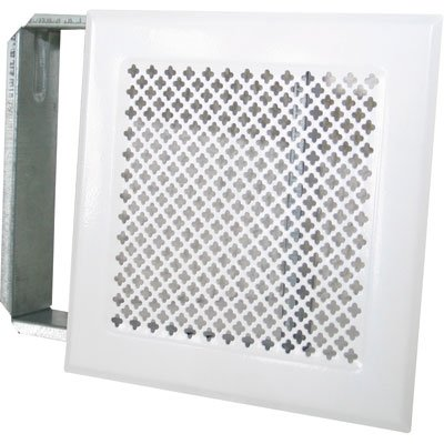 Grille d'aération cheminée - Blanc - 170 x 170 mm - DMO 730898