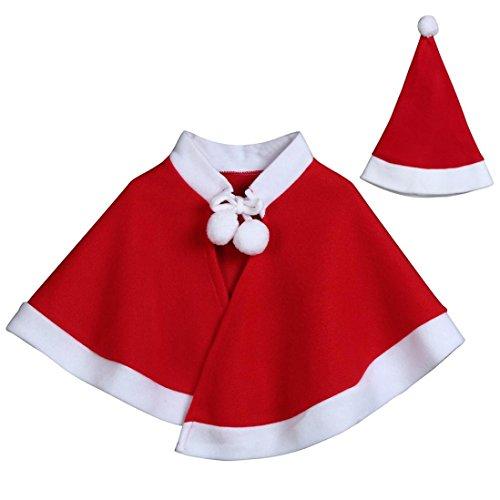 Kinder Weihnachten Cosplay Poncho, DoraMe Baby Mädchen Jungen Weihnachten Kostüm Umhang Mantel Kleidung Cape (Rot, 3 - Halloween-kostüme Disney Für Baby-jungen