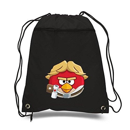 Mochila-bolsa-con-cordn-para-escuela-o-gimnasio-diseo-de-Angry-Bird-color-negro