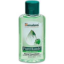 Himalaya Herbals Pure Hands Hand Sanitizer - 100 ml (Green Apple)