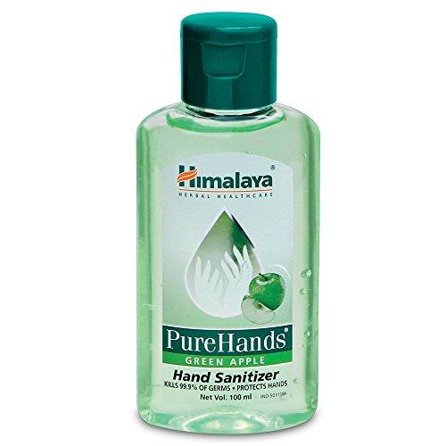Himalaya Herbals Pure Hands Hand Sanitizer - 100 ml (Green Apple)