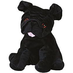 Warmies - Carlino, peluche térmico, color negro (T-Tex 35)