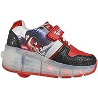 BOOWJESSEA - Zapatillas de Otra Piel para niña, color plateado, talla 39 EU