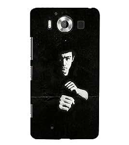 FUSON Martial Art Master 3D Hard Polycarbonate Designer Back Case Cover for Microsoft Lumia 950 :: Nokia Lumia 950