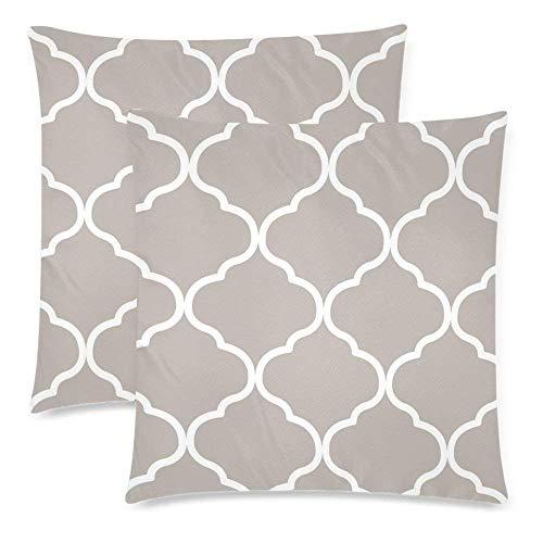 Doppelseitig, Doppelseitig, 45 x 18 cm, marokkanischer Reißverschluss, Weiß ()
