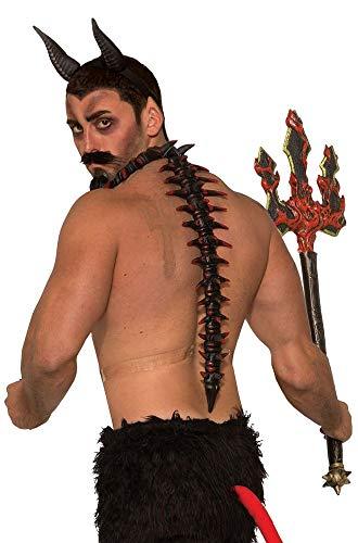 Dämon Kostüm Zubehör - shoperama Wirbelsäule und Halsband mit Dornfortsätzen für Teufel Dämon Biest Kostüm-Zubehör Accessoire