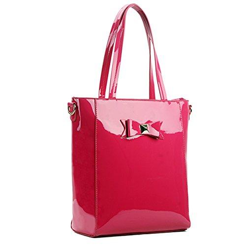 Miss Lulu, Borsa a spalla donna Rosa rosa Rosa (Prugna)