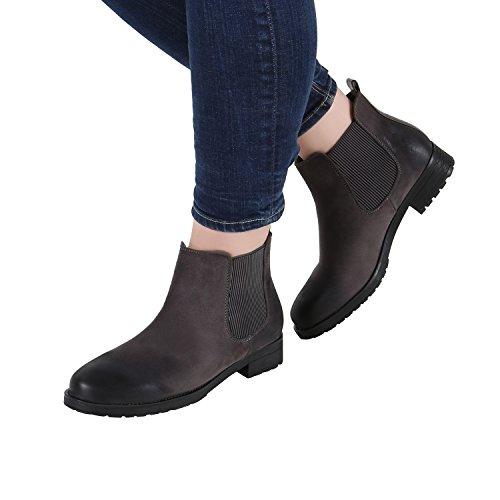 Stiefelparadies - Stivali Chelsea Donna Grau