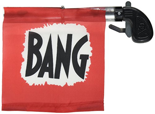 Loftus Star Power Starter Prank Bang Gun Flag Pistol, Red/Black/White, 5""