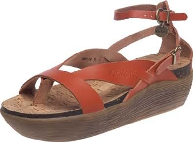 kickers kimono sandales femme orange 36 eu chaussures et sacs. Black Bedroom Furniture Sets. Home Design Ideas