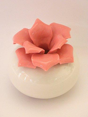 Profumatore ambiente white pink - bomboniera matrimonio - porcellana capodimonte visconti
