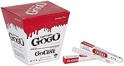 Scoria Captain GOGO Pre Rolled Paper -White/Perfect Roll/Smoking Roll/King Size/Filter Paper/Pe Rolled Cone-50 + 6 Piece Free
