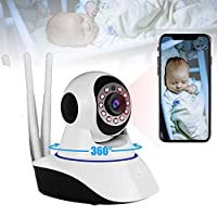WiFi Video Baby Monitor Camera CCTV 1080P Wireless Indoor Home Security Surveillance IP Cameras for Child Elder Pet Nanny Cam PTZ Remote Control 2 Way Audio Night Vision Motion Sensor P2P Webcam