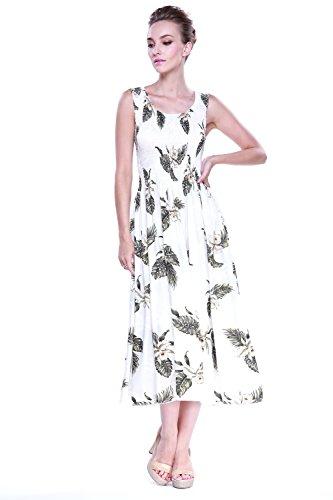 Hawaiano-Vestido-Luau-vestido-Maxi-largo-tanque-elstico-vestido-en-Hoja-de-palma