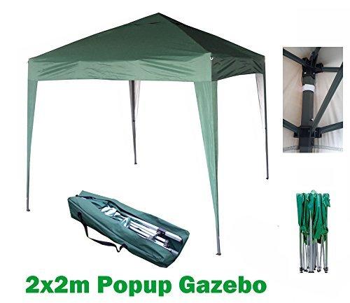 MCC 2x2m Pavillon, Gartenpavillon, Festzelt, Komplettset, Pavillon, Party Zelt (Grün)