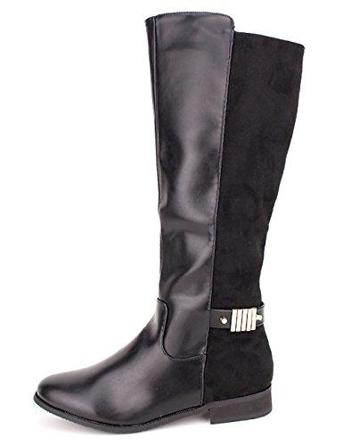 Cendriyon Botte Noire BI Matière DOSANTA Chaussures Femme Noir