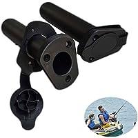 Dxlta 2 Unids / set Plastic Flush Mount Fishing Boat Holder Rod Soporte y tapa de cubierta Kayak