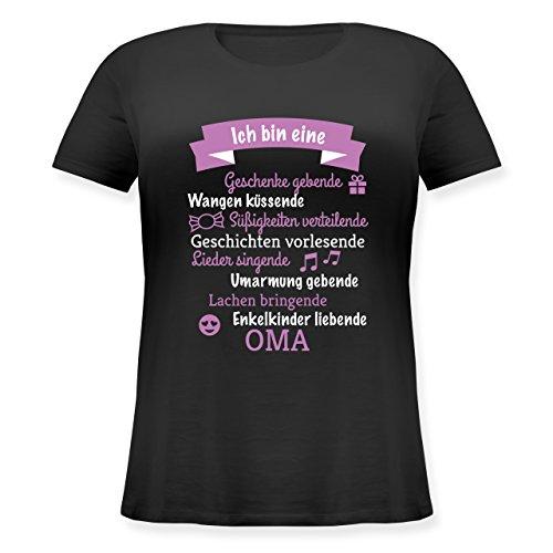 Geburtstag - Ich Bin eine Oma! - M (46) - Schwarz - JHK601 - Lockeres Damen-Shirt in großen Größen mit Rundhalsausschnitt -