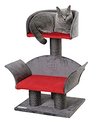 Kerbl Lounge Deluxe Cat Tree, 70 cm, Grey/Red from Kerbl