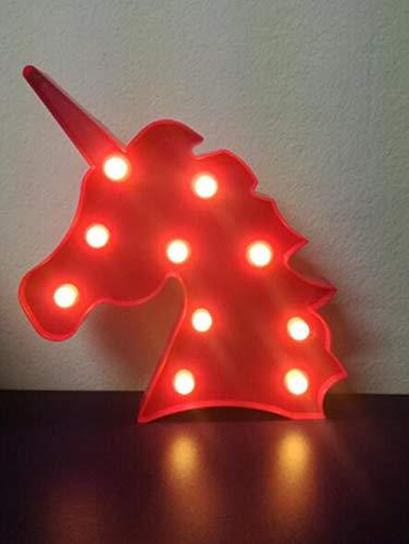 Yansion Unicorno LED Luce notturna Lampada,lampada da letto per la scuola materna Rosa Accessori da party 4 colori Funzionamento a batteria Decorazione della casa Luce da lettura da tavolo