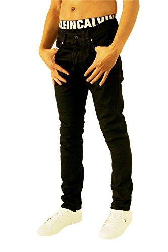 Diesel Herren Slim Jeans Tepphar, Schwarz (Black/Grey 0886Z), W32/L34