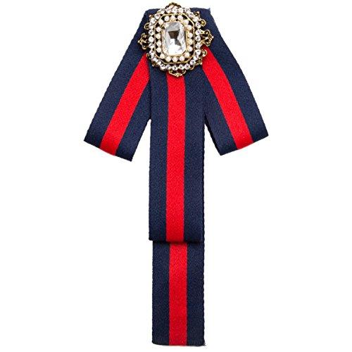 Schöne Menschen Kleidung (WKAIJCJ Brosche Frauen Stifte Fliege Accessoires Kleidung Mode Persönlichkeit 10 0 * 19 2 Cm,Blue-OneSize)