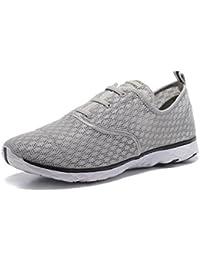 HangFan - Zapatillas de escalada de Ante para hombre gris gris