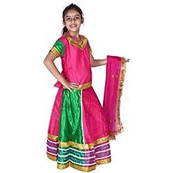 Baby and Blossoms Net Lehenga Choli Set for Garbha(3-5years)