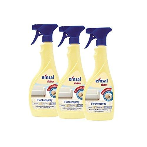 3x emsal tuba Fleckenspray 500 ml - für Polster, Teppiche und Auto geeignet