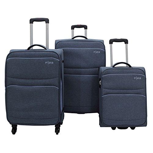 F 23 3-tlg. Trolley-Set, Polyester, Santa Cruz2.0, Marineblau/Blau,