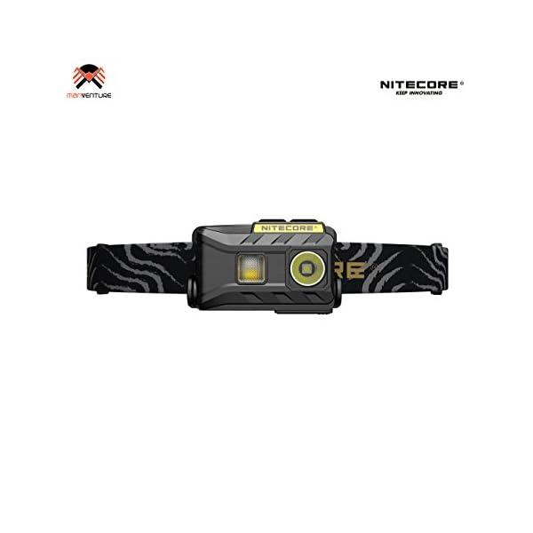 Nitecore NU25 Head Torch USB Rechargeable Triple Output Headlamp 360 Lumen CREE XP-G2 S3 LED 10 Brightness Modes IP66 Waterproof 28 Grams Headtorch Ideal for Camping, Fishing, Running, Biking, EDC