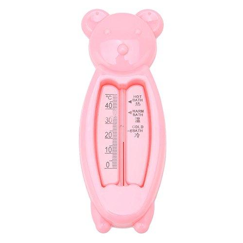 EROSPA® Badewannen-Thermometer Baby Kinder Bade-Wasser Temperatur Bärchen (Pink)