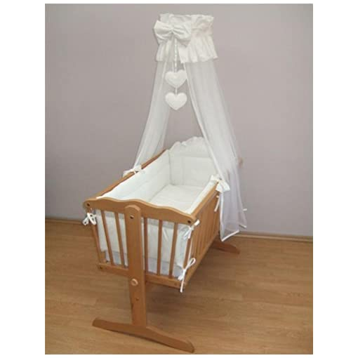 BABY BEDDING SET CRIB CRADLE 10 Pieces PILLOW DUVET COVER BUMPER CANOPY to fit Crib 90x40cm 100/% COTTON Green