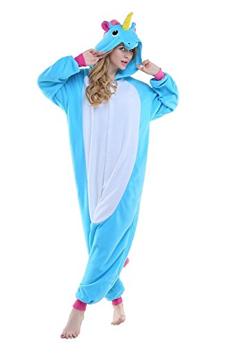 Eichhörnchen Zombie (Tier Pyjamas Schlafanzug Cosplay Kostüm - Fasching Onesies Jumpsuit Tierkostüme (Size XL: For Height: 180CM-188CM, New Blue)