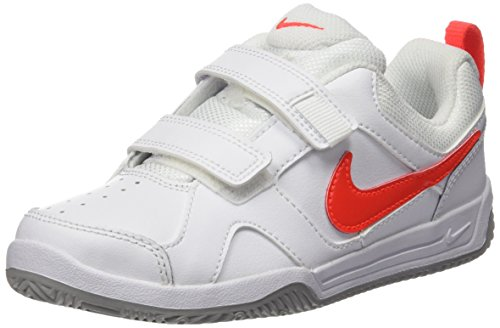 Nike Lykin 11 Psv, Chaussures de Tennis Fille Blanc (White/Bright Crimson/Wolf Grey)