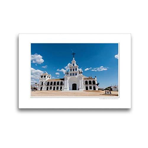 CALVENDO Lienzo de Tela Premium 45 cm x 30 cm Horizontal, un Motivo del Calendario Emocional: El Rocio - España, Famoso Lugar de la Cartera. Lienzo con impresión en Lienzo Glaube; Calvento Glaube.