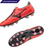 Morelia Neo K Leather MD FG Football Boots - Fiery Coral/Black - Size 44.5 EU