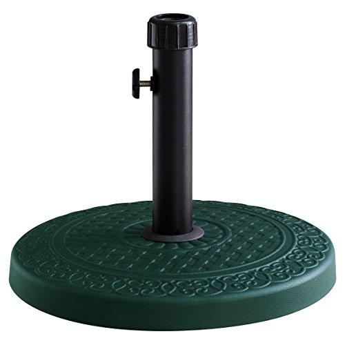 charles-bentley-pied-de-parasol-en-beton-rond-vert-fonce-13-kg